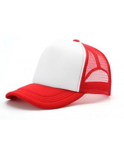 Gorra Trucker Roja Sublimable con tu Logo
