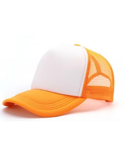 Gorra Trucker Naranja Sublimable con tu Logo